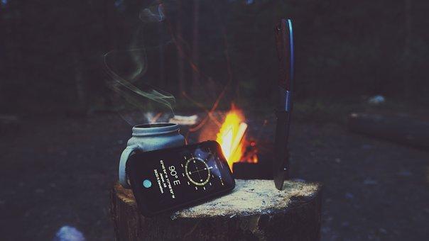 Iphone, Wilderness, Wild, Woods, Forest, Campsite