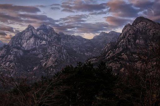 Mountain, Nature, Wolchulsan, Republic Of Korea, Cloud