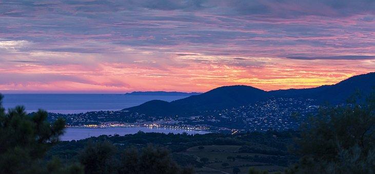 Abendstimmung, Sunset, St, Tropez, Côte D ' Azur