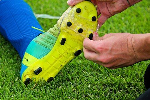 Football, Soccer Shoes, Repair, Help, Adhesive Tape