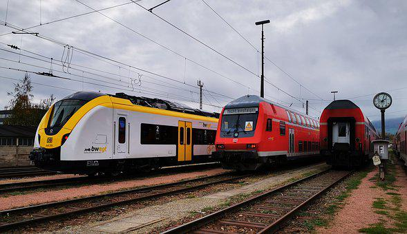 Train, Track, Rail, Railway Station, S Bahn, Bsb2020