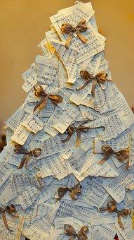 Christmas, Song Sheets, Christmas Tree, Decoration
