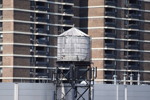 Water Tower, Wood, Wooden, Nyc, In New York City, Top