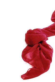 Red, Silk, Scarf, Textile, Fashion, Accessory