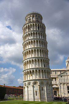Pisa, Italy, Tower, Building, Tourism, Travel, Culture