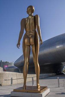 Korea, Seoul, Human Body, Art, Modern, Statue