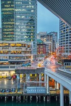 Cityscape, City, Architecture, Night, Urban