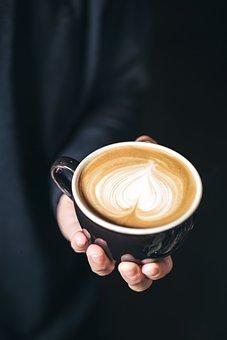 Coffee, Capuchino, Hot, Dark, Drink, Hand