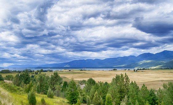 Montana, Flathead Lake, Polson Montana, Mountains, Lake