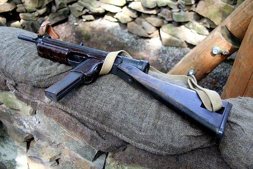 Submachine Gun, Weapon, War, Museum, Shoot, Rifle