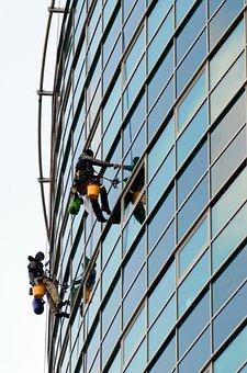 People, Men, Adult, Hang, Ropes, Buildings, High