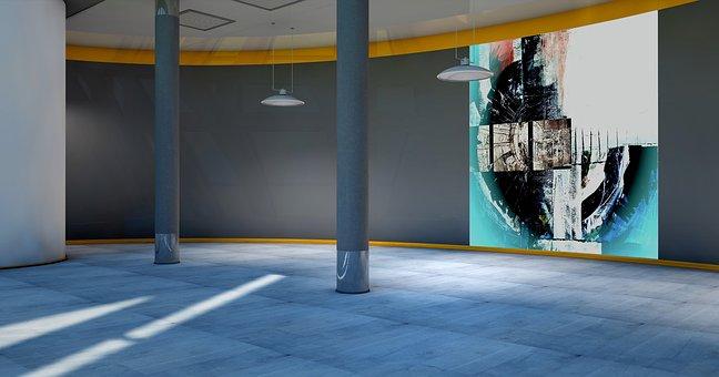 Input, Foyer, Lobby, Painting, Art, Presentation