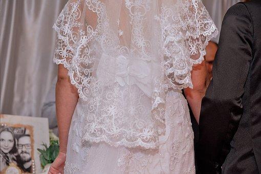 Dress, Veil, Casal, Marriage, Bride, Woman, Love