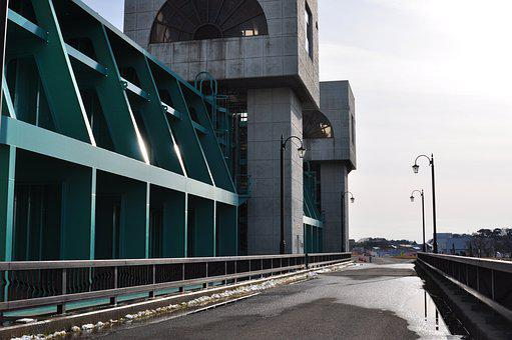 Building, Bridge, Road, The Floodgates, Gate, Weir