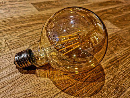 Light Bulb, Light, Led, Pear, Energy, Current