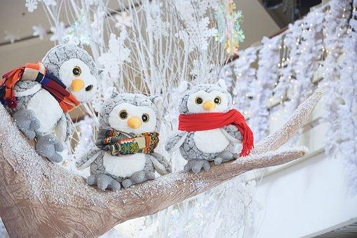 Christmas, X-mas, Xmas, Cute Decoration, Cute Owl, Owl
