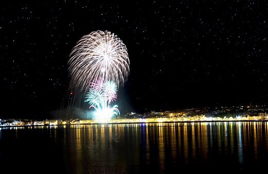 Isle Of Man, Night Sky, Fireworks, Douglas