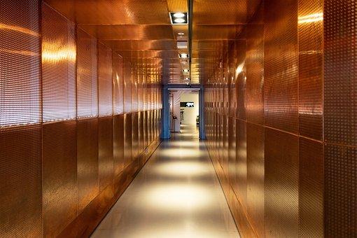 Passage, Copper, Wide, Gang, Corridor, Escape, Cramped