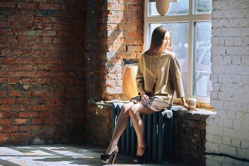 Skirt, Fashion Clothes, Model, Brick Wall, Design