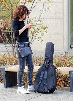 Girl, Young, Woman, Person, Hair, Long, Curly, Jeans