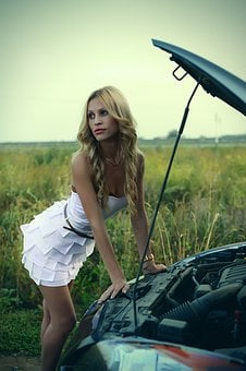 Girl And Car, Mazda, Beautiful Girl, Slim, Model