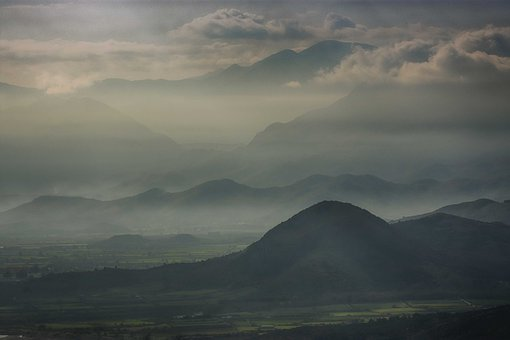 Layers, Mist, Nature, Landscape, Trees, Fantasy, Forest