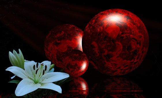 Balls, Composition, Light, Photo Art, Decoration, Color