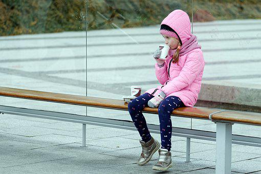 Child, Small, Girl, Jacket, Pink, The Hood, Placed