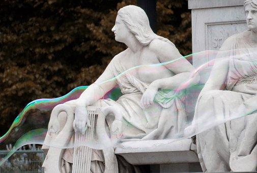 Bubble, Statue, Sculpture, Figure, Water, Bubbles