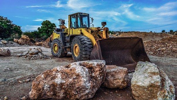 Bulldozer, Heavy Machine, Construction Site, Machinery