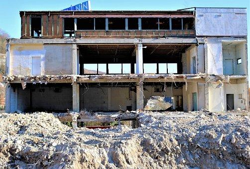 Demolition Of The Department Store, Building Rubble