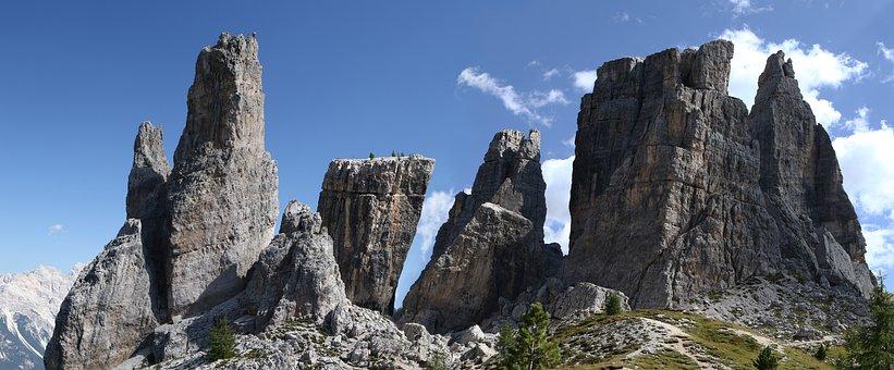Cinque Torri, Dolomites, Belluno, Cortina, Falzarego