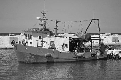 Jaffa Port, Israel, Me, Mediterranean, Fishing Boat