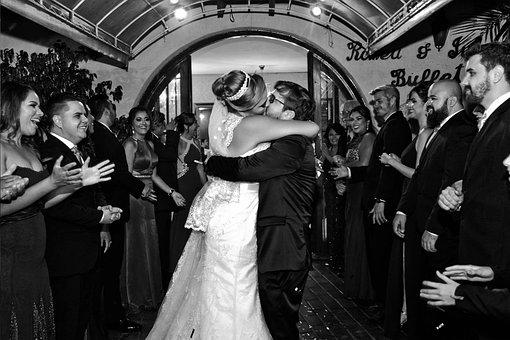 Marriage, Kiss, Party, Celebration, Casal, Love, Bride