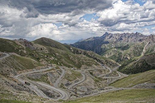 Kyrgyzstan, Taldyk Pass, Mountain Pass, Pass Road