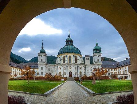 Monastery, Ettal, Rococo, Church, Dome, Architecture