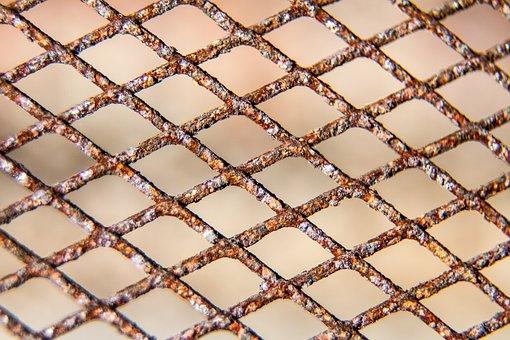Pattern, Texture, Zigzag, Metal, Rust, Brown, Yellow