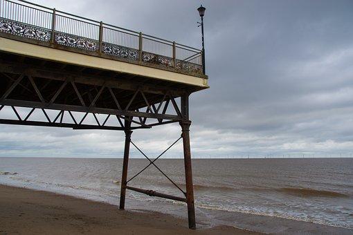Scarborough, Web, Sea, Beach, Water, Sky, Clouds, Wave