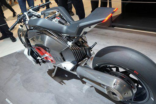 Motorcycle, Electric, Wheel, Chain, Strong, Motor