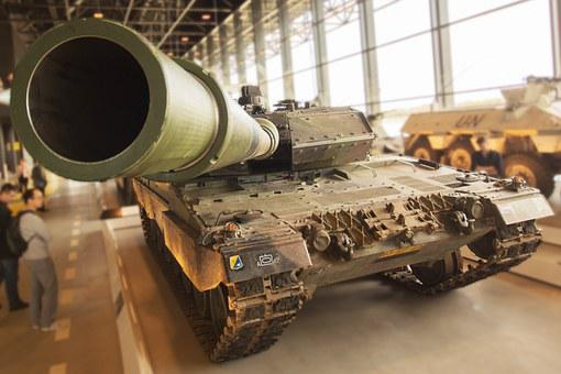 Tank, Museum, Green, Army, War, Weapon, Military