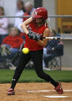 Softball, Girls, Game, Athlete, Ball, Sport, Female