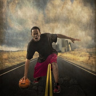 Basketball, Player, Angry, Man, Male, Textured, Ball