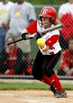 Softball, Girls Softball, Bat, Batting, Sport, Female