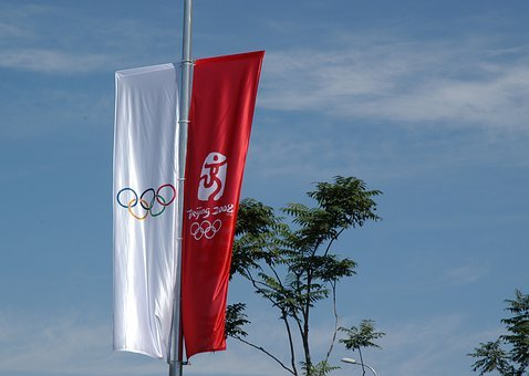 Olympics, Banners, Beijing, China, Sign, Games, Sport