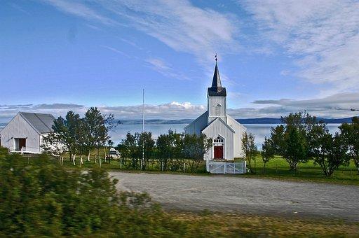 Finnmark, Norway, Church, Scandinavia, Building
