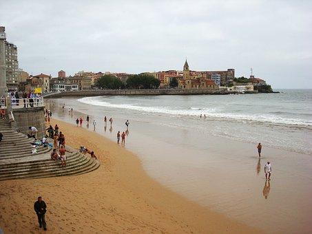 Asturias, Beach, Of, San, Lorenzo, Church, Wholesale