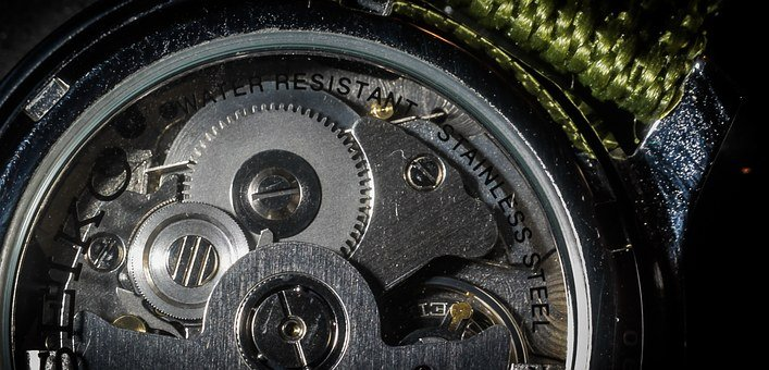Clock Mechanism, Hour S, Watch, Works, Watch Movements