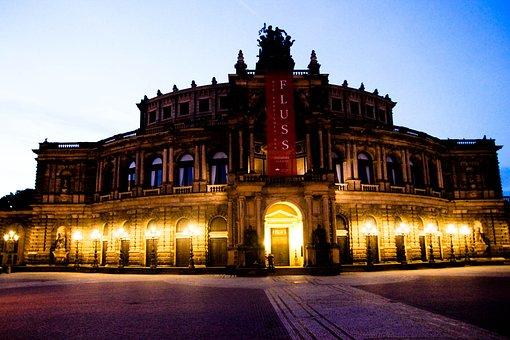 Dresden, Semper Opera House, Night