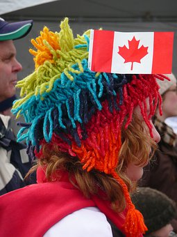 Canadien Fan, Winter Olympic Game, Visitor, Human, Girl