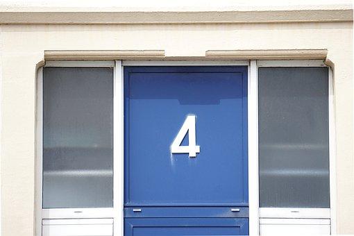 Door, Entry, Wood, Wooden Door, Front Door, Number